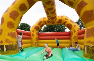 Big inflatable fun at the Lions Funfest