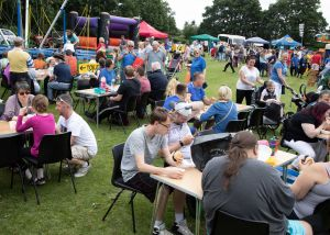 JUst some of the 700 guests enjoying the Lions Funfest