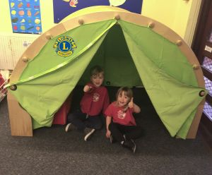 Children at Acornwood Pre-School enjoying the Den
