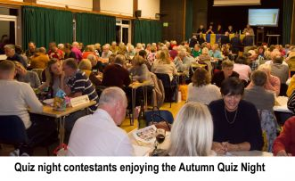 Quiz Night Contestants at the Autumn 2019 event