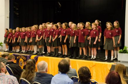 Singing 'Roar' with a close 2nd plac the choir from St Michael's School Aldershot