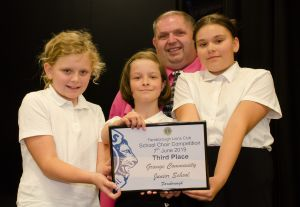 The Grange Community School were in third place