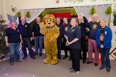 Lemmy the Aldershot Lion joins with Farnborough Lions at the Parkside Party