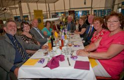 All smiles for the camera during Farnborough Lions 2014 Charter Dinner