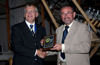 Lion President Richard Keeley presented Lion Dave Smith with a Special President's Award to mark Dave's 23 years memebership  in the Lions Club of Farnborough. Dave is retiring and moving to Lincolnshire where he will soon be joining anther Lions Club.