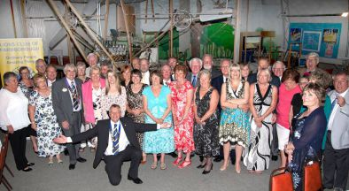 Farnborough Lions and friends pose for their Charter Anniversary picture at the FAST Museum