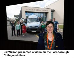 Liz Wilson pesents the story of the Farnborough College minibus