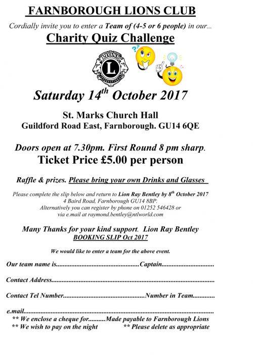 Lions club of farnborough october 2017 quiz night details stopboris Gallery