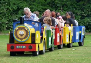Train rides around the field at Lions Funfest
