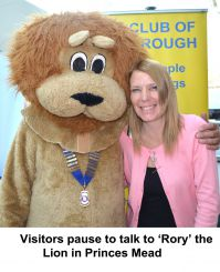 Posing with Rory in Princes Mead at Farnborough Lions Information Day