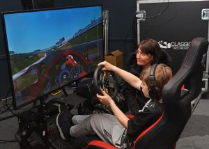 The Formula One Driving Experience with 10 Classic Race Simulators as part of the Farnborough Clasic Motor Vehicle Show