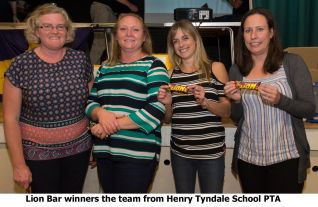 Lion Bar winners the team from Henry Tyndale School PTA