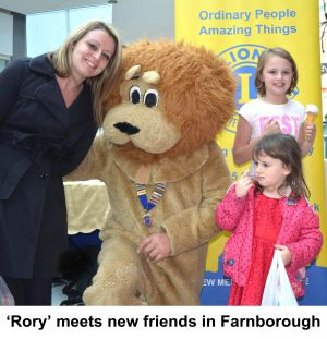 Rory meeting new friends in Farnborough