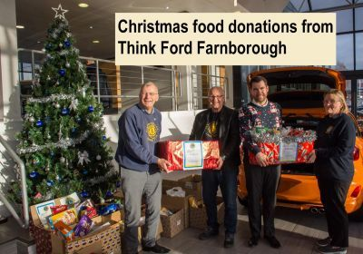 The 2019 Think Ford Food collection which was donated to the 2 Farnborough Food Banks